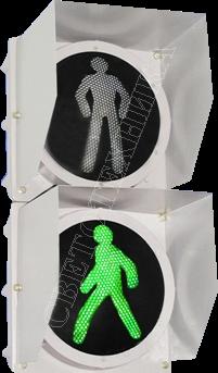 Пешеходный светодиодный светофор